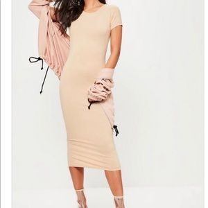 Missguided Nude midi dress